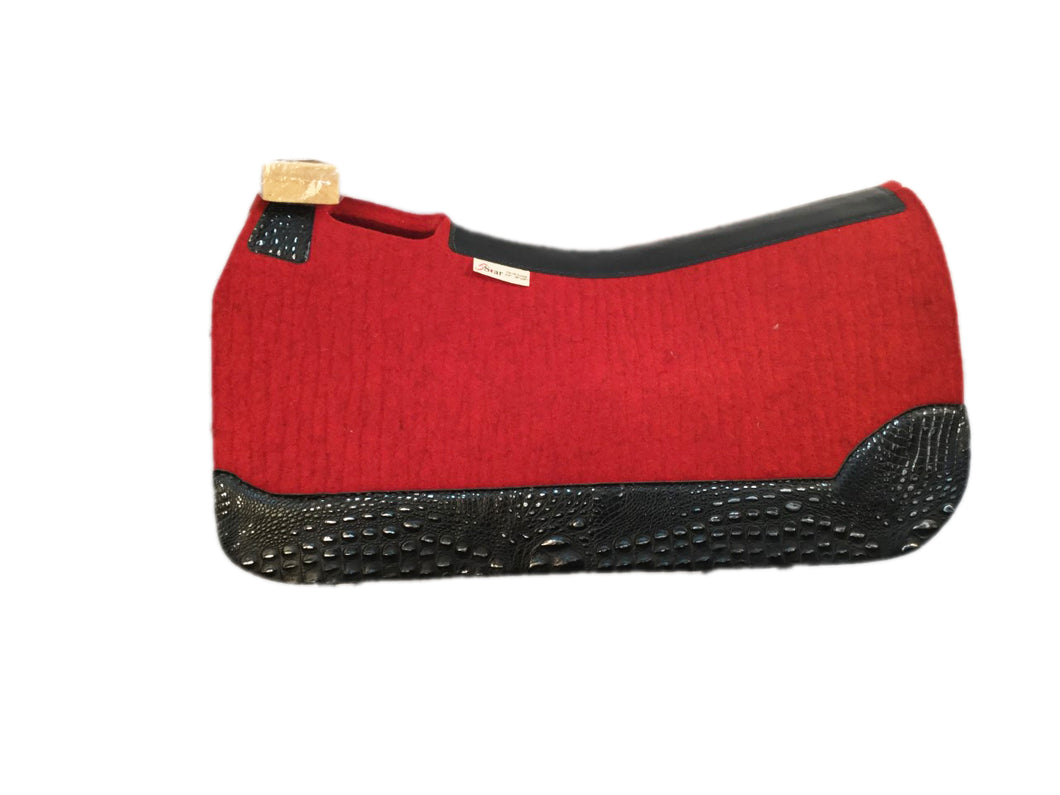 5 STAR EQUINE ALL AROUND SADDLE PAD - STYLE #3W CUSTOM RED - RED/BLACK