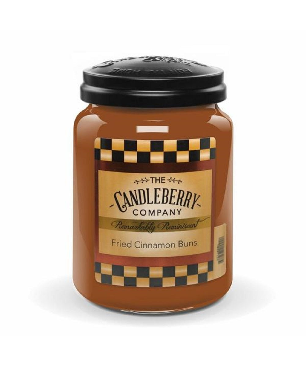 Candleberry Fried Cinnamon Buns Large Scented Candle Jar- Style #40035