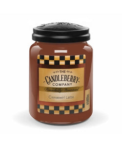Candleberry Cinnaswirl Latte Large Scented Candle Jar- Style #40041