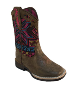 "M&F WESTERN BLAZIN ROXX TODDLER'S ""HAILEY"" SQUARE TOE BOOTS -STYLE  #4412802"