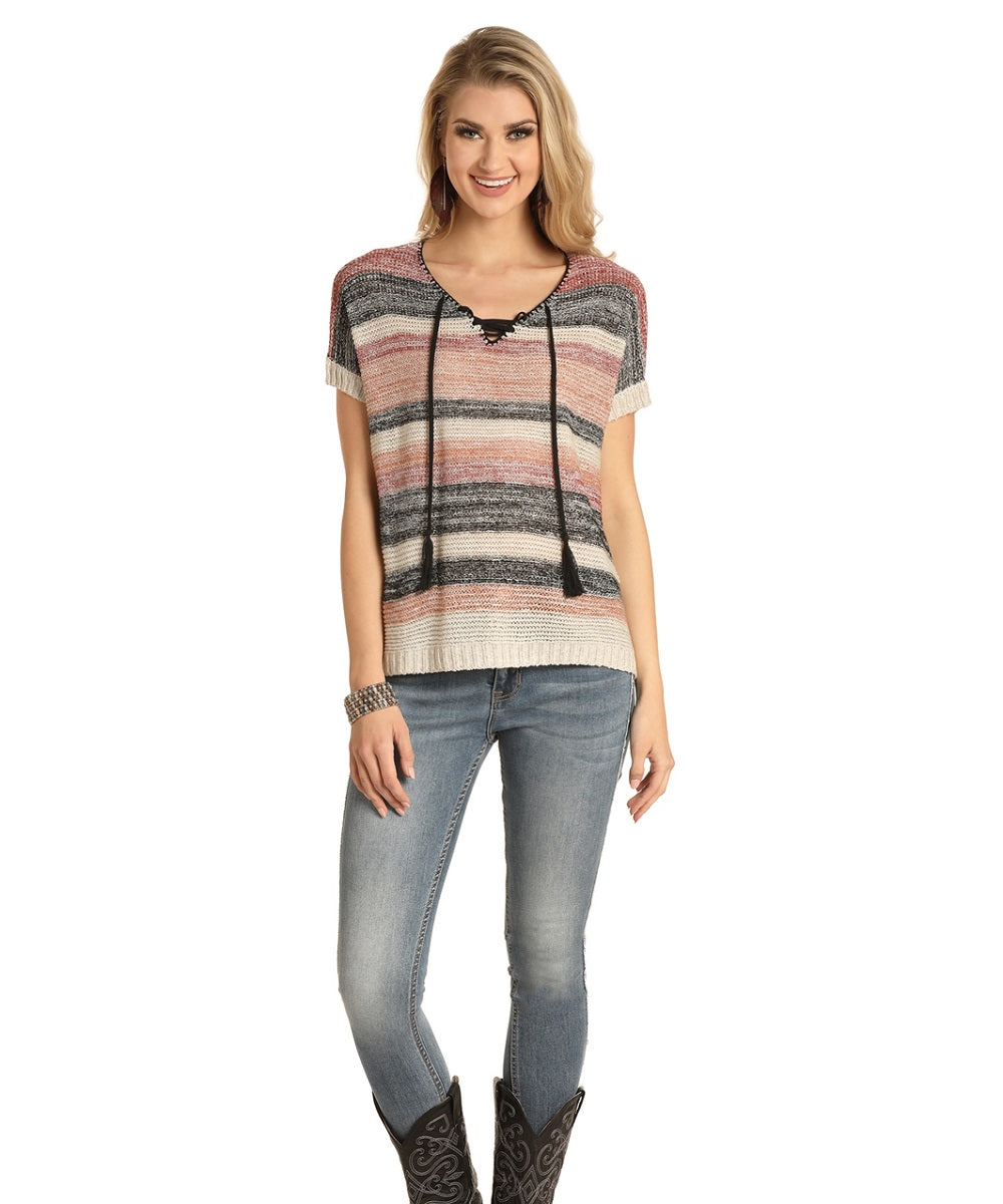Rock & Roll Cowgirl Women's Knitted Sweater- Style #46-4470