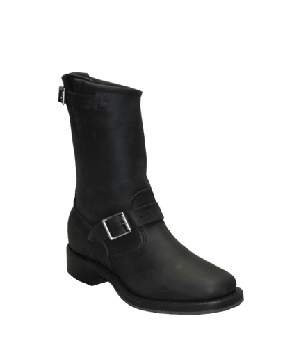 SAGE MEN'S SQUARE TOE BLACK BOOT - STYLE #4744