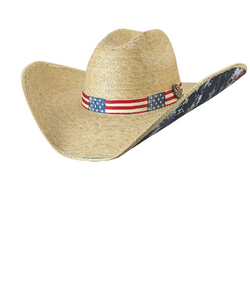 BULLHIDE HATS TRULY AMERICAN STRAW HAT- STYLE #5002-NATURAL