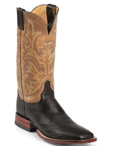 Justin Men's Pascoe Black Smooth Boot- Style #5507
