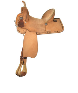 Circle Y Lobo Roughout Barrel Saddle- Style #6227-9505-05