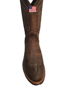 Abilene Men's Distressed Brown Western Boot- Style #6412