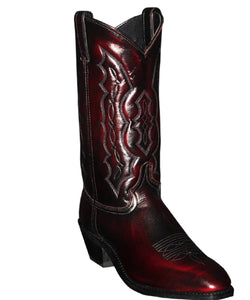 ABILENE MEN'S BLACK CHERRY SQUARE DRESS TOE BOOT- STYLE #6469