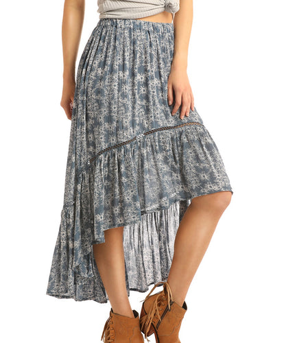 Rock & Roll Cowgirl Women's Hi-Lo Skirt- Style #69-1447