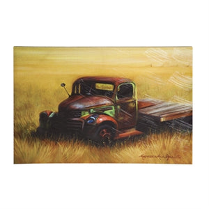 EVERGREEN RUSTIC OLD TRUCK INDOOR WALL CANVAS- STYLE #6CP65393