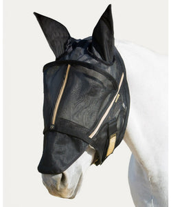Noble Outfitters Black Guardsman Fly Mask With Ears- Style #75002 BLK