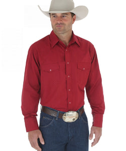 WRANGLER MEN'S LONG SLEEVE SNAP SOLID SHIRT - STYLE #75740WN