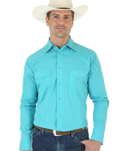WRANGLER MEN'S LONG SLEEVE SNAP SOLID SHIRT - STYLE #75744TQ