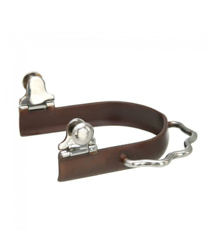 Kelly Silver Star Antique Brown Sidewinder Bumper Spurs- Style #78-2601L