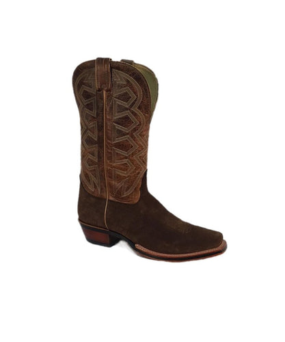 NOCONA MEN'S HIPPO PRINT SQUARE TOE BOOT- STYLE #7952001L03