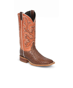 JUSTIN MENS' PASCOE BROWN FULL QUILL WESTERN BOOT- #8573