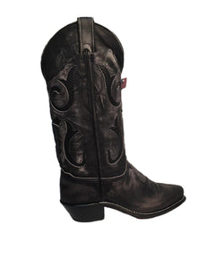 Abilene Women's Antique Gray Cross Boot- Style #9223