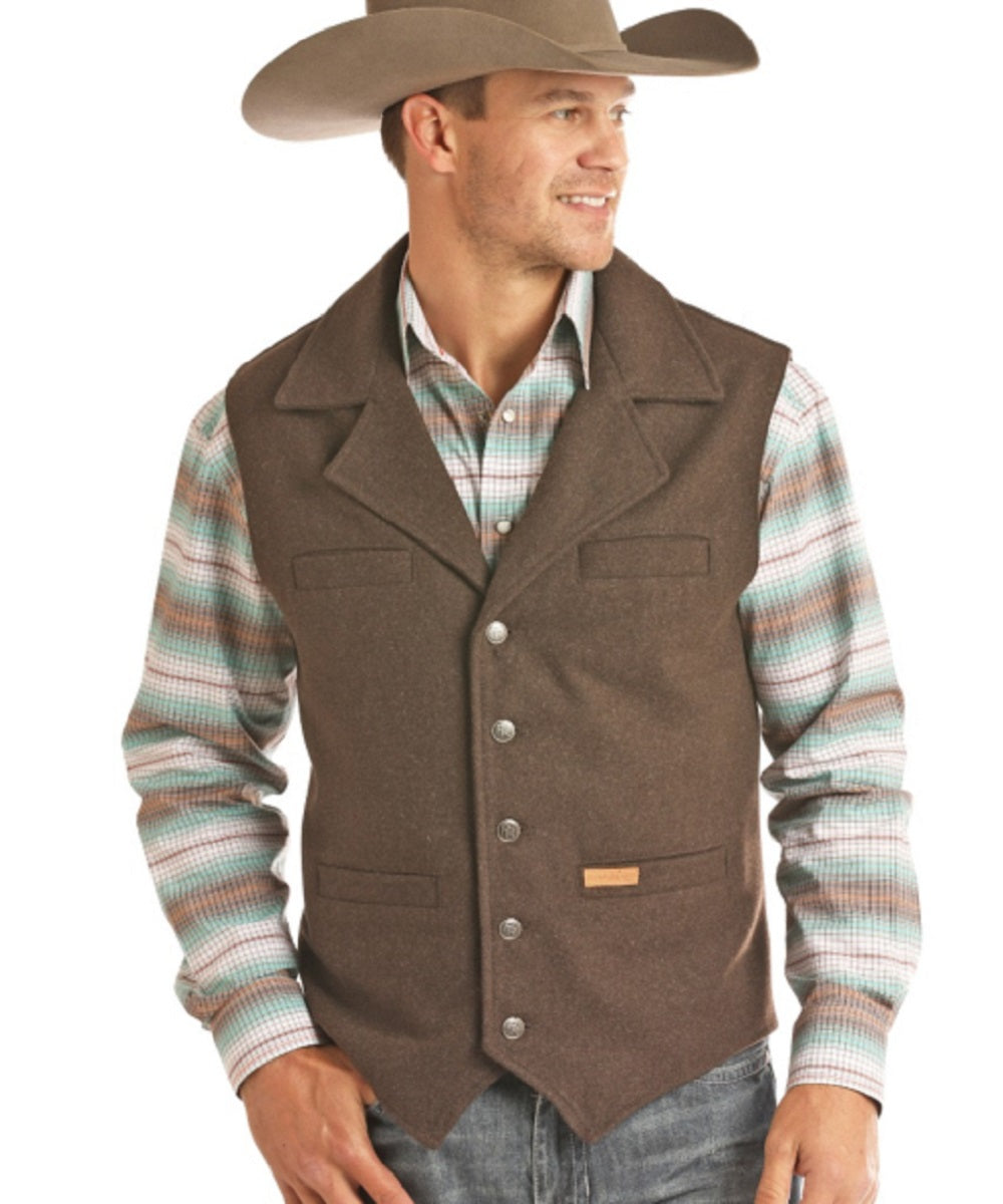 Panhandle Men's Powder River Montana Wool Vest- Style #98-1176