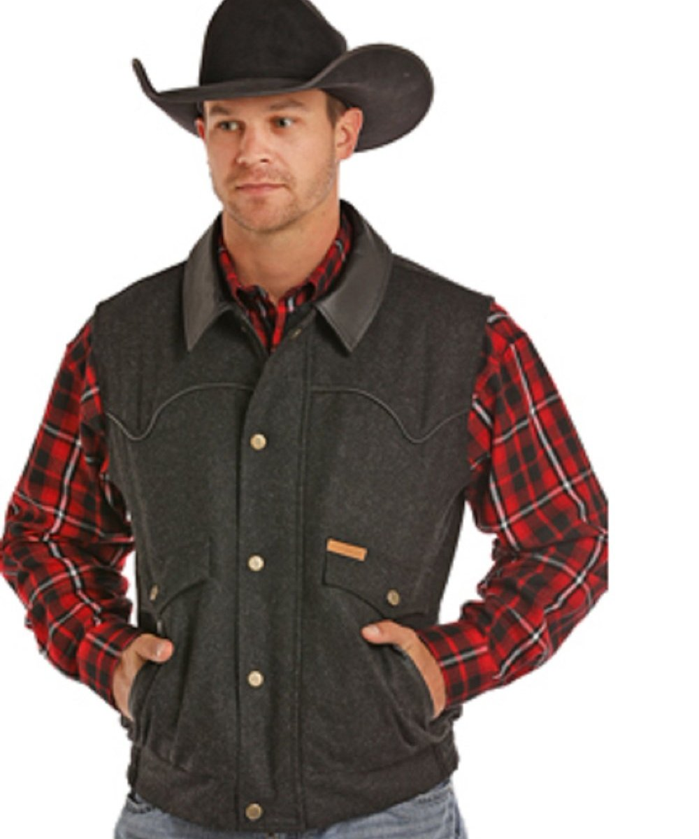 Panhandle Slim Men's Powder River Holbrook Vest- Style #98-5619 BLK