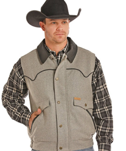 Panhandle Slim Men's Powder River Holbrook Vest- Style #98-5619 GRY