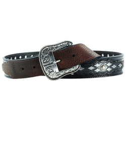 M&F WESTERN MEN'S ARIAT AUSTIN ROWDY BELT- STYLE #A10004269