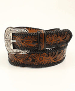 ARIAT MEN'S FLORAL EMBOSSED BELT - STYLE #A10304107