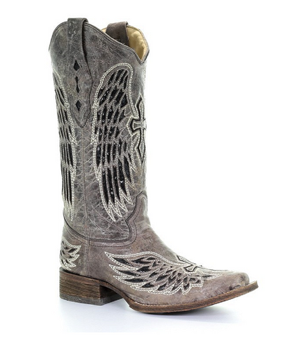 Corral Women's Wing And Cross Sequin Underlay Boot- Style #A1197
