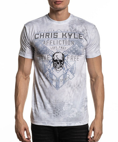 Affliction Men's Chris Kyle Live Free Tee- Style #A20548