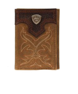 M&F Western Men's Ariat Premium Trifold Wallet- Style #A3511044