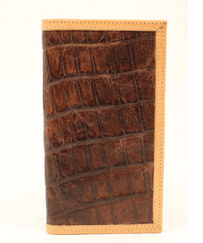 M&F WESTERN RODEO CROC PRINT WALLET - STYLE #A3535202 - TAN