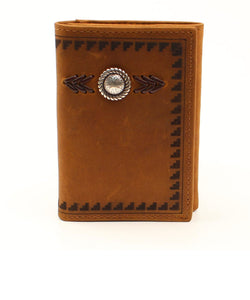 M&F Western Men's Ariat Western Concho Aztec Trifold Wallet- Style #A3539244