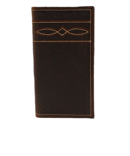 M&F Western Men's Ariat Tan Boot Stitch Rodeo Style Wallet- Style #A3539502