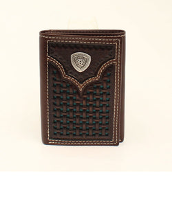 M&F Western Men's Ariat Turquoise Dots Trifold Wallet- Style #A3540633
