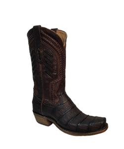 Corral Men's Oil Brown Caiman Boot- Style #A3635-OIL BROWN