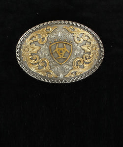 M&F Western Ariat Antique Silver And Gold Buckle- Style #A37005