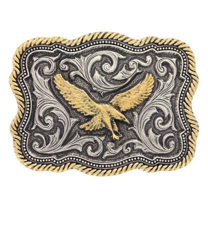 Montana Silversmiths Twisted Rope And Pinpoints Attitude Soaring Eagle Buckle- Style #A613