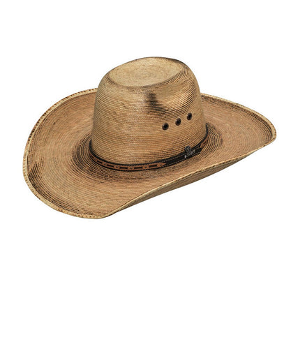 M&F marrón oscuro de la palma del fuego de Ariat occidental sombrero pajizo occidental - estilo #A65104