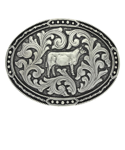 Montana Silversmiths Antiqued Classic Show Heifer Attitude Buckle- Style #A694S