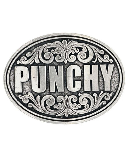 Montana Silversmiths Men's Ultra Punchy Attitude Belt Buckle- Style #A697S