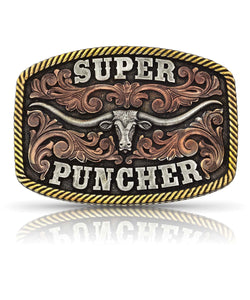 Montana Silversmiths Dale Brisby Super Puncher Longhorn Buckle- Style #A810DBT