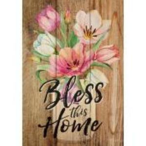 P GRAHAM DUNN SMALL WOOD SIGN- STYLE #ARS0-97-BLESSTHISHO