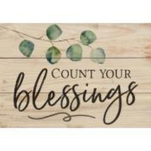 P GRAHAM DUNN SMALL WOOD SIGN- STYLE #ARS0-107 BLESSINGS