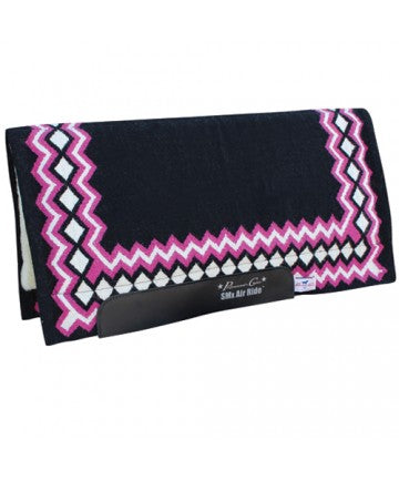 PROFESSIONAL'S CHOICE HEAVY DUTY AIR RIDE WESTERN SADDLE PAD- STYLE #AXHDS - BLK/PNK