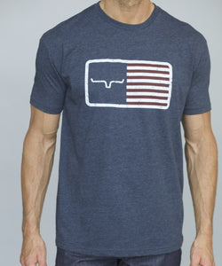 Kimes Ranch Men's Navy American Trucker Tee- Style #AMERICANTRUCKERTEENAVY
