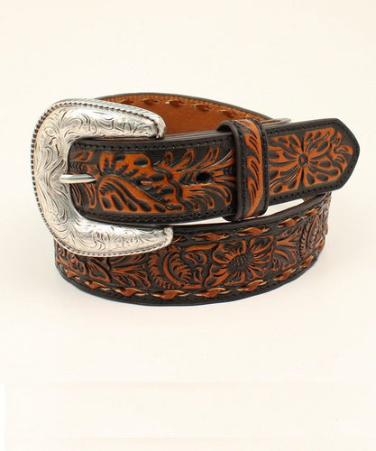 M&F Western Men's Ariat Floral Embossed Belt- Style #A1031667