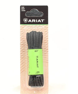 "M&F Western Ariat Black Waxed 63"" Boot Laces- Style #A2300601 63"