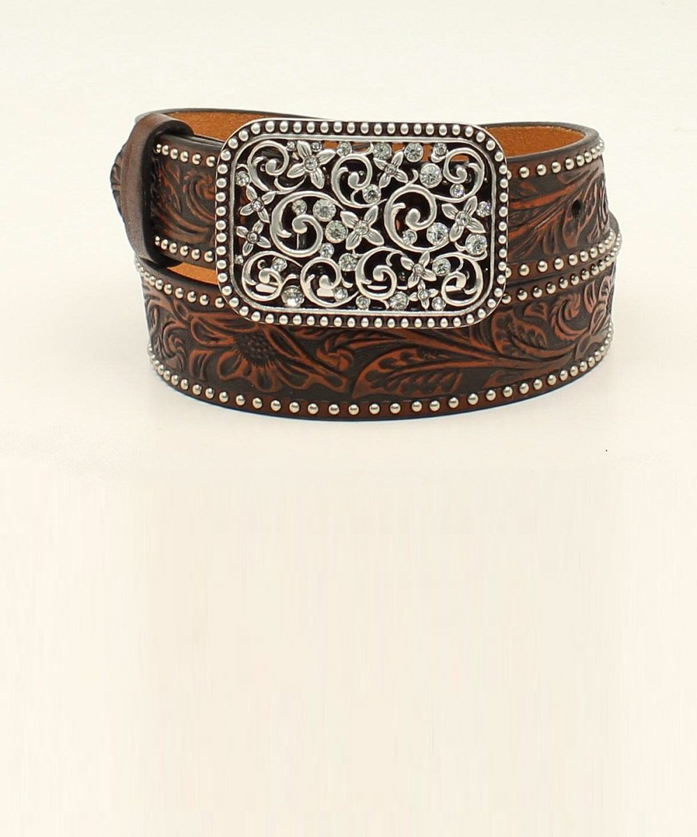 M&F Western Girls' Ariat Embossed Fashion Belt- Style #A1303602