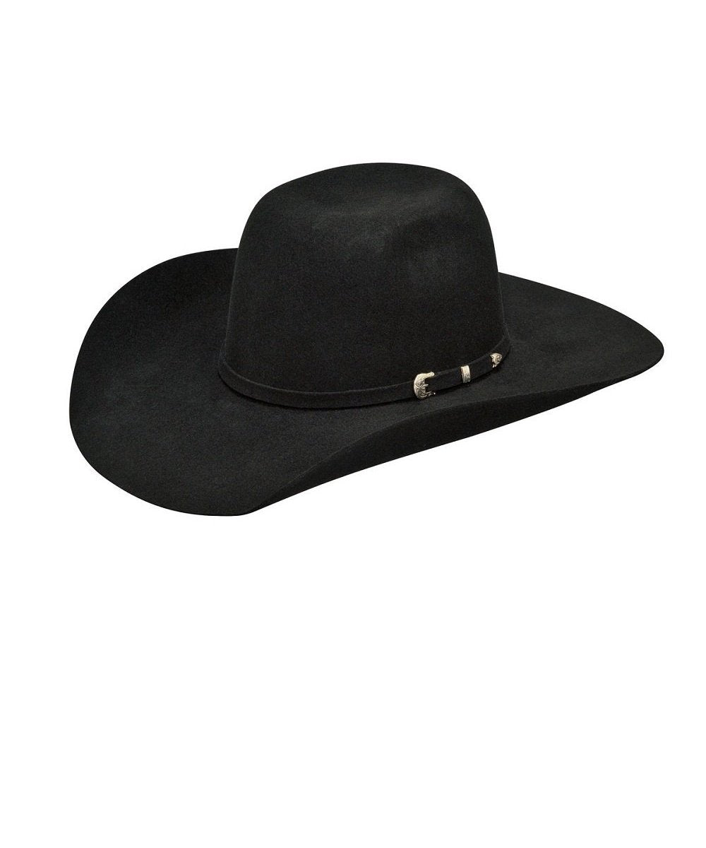 M&F Western Youth Ariat Wool Black Punchy Hat- Style #A7210001