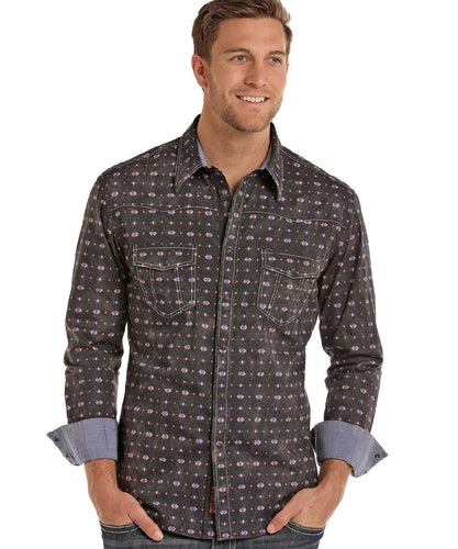 PANHANDLE MEN'S ROCK & ROLL COWBOY SNAP SHIRT - STYLE #B2S6036