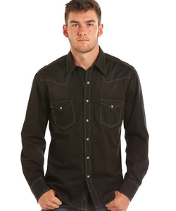 Rock & Roll Cowboy Men's Solid Twill Snap Shirt- Style #B2S6461