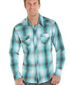 PANHANDLE SLIM MEN'S ROCK & ROLL COWBOY PLAID SNAP SHIRT- STYLE #B2S8019